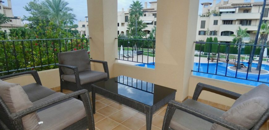 Ample First Floor Apartment with Views to the Swimming Pool